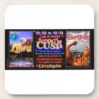 Valxart Zodiac Cusp born Libra Scorpio Drink Coaster