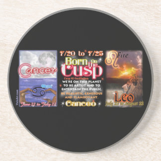 Valxart zodiac Cusp of Cancer Leo Coaster