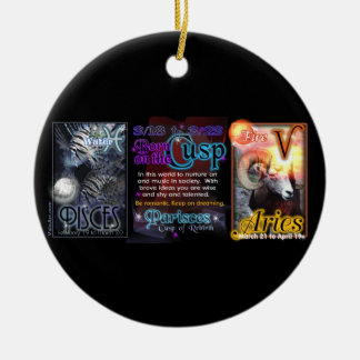 Valxart Zodiac Cusp Pisces Aries Christmas Ornament