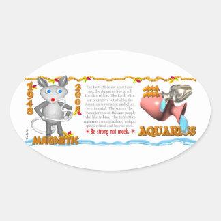Valxart Zodiac earth rat Aquarius 1948 2008 Sticker