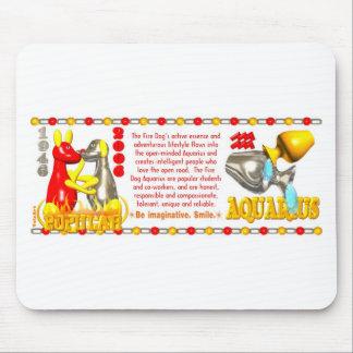 ValxArt zodiac fire dog Aquarius born 1946 2006 Mouse Pad
