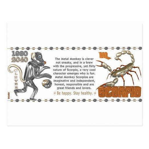 ValxArt Zodiac Scorpio Metal Monkey 1980 1920