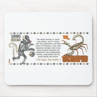 ValxArt Zodiac Scorpio Metal Monkey 1980 1920 Mousepad
