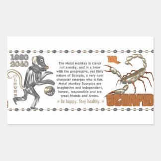 ValxArt Zodiac Scorpio Metal Monkey 1980 1920 Sticker