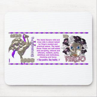 ValxArt Zodiac Virgo Metal Horse 1930 1990 Mouse Pads