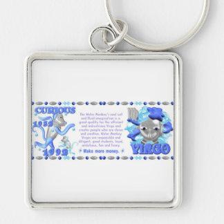 ValxArt zodiac water monkey Virgo born 1932 1992 Key Chain
