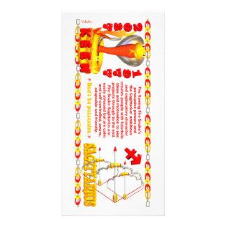 Valxart's 1977 Fire Snake  zodiac born Sagittarius Personalized Photo Card