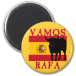 Vamos Rafa With Flag of Spain 6 Cm Round Magnet