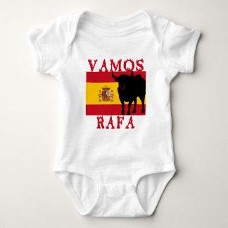 Vamos Rafa With Flag of Spain Baby Bodysuit