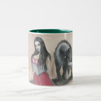 Vamp and Wolf Two-Tone Coffee Mug