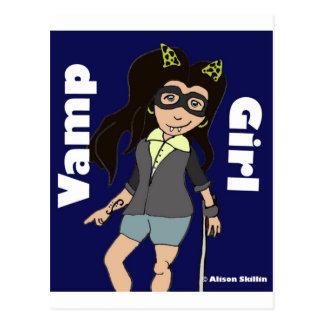 Vamp Girl.jpg Postcard