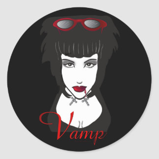 Vamp II Classic Round Sticker