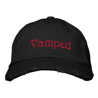 Vamped gothic Embroidered Hat