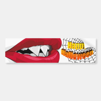 Vampira Mouth Bumper Sticker