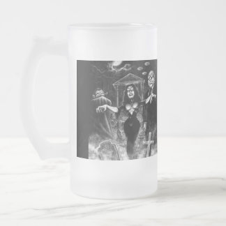 Vampira Plan 9 zombies Frosted Glass Mug