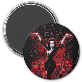 Vampira Spider web gothic 7.5 Cm Round Magnet