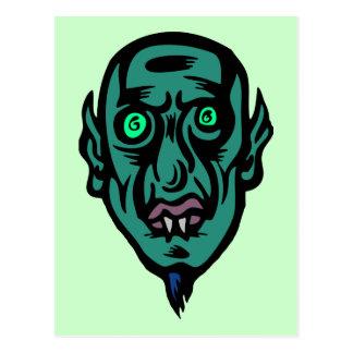 vampire alien postcard