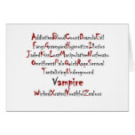 Vampire Alphabet Greeting Card