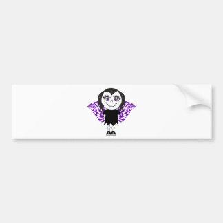 Vampire Angel Girl Tribal Wings Bumper Sticker