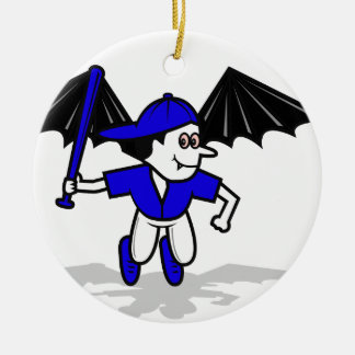 vampire baseball bat boy christmas ornament