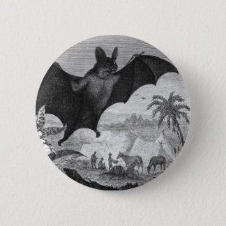 Vampire Bat 6 Cm Round Badge