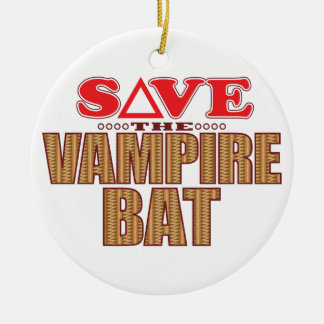 Vampire Bat Save Christmas Ornament