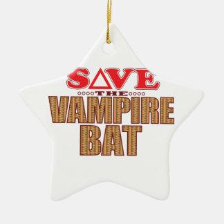 Vampire Bat Save Christmas Ornament