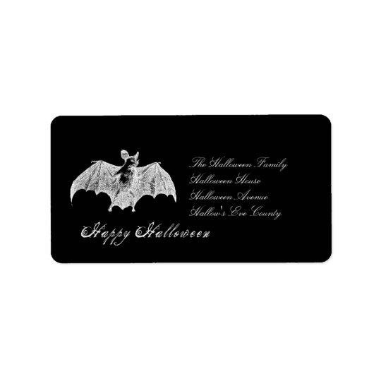 Vampire Bat Wishes Address Label