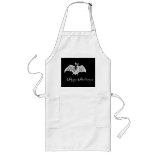 Vampire Bat Wishes Long Apron