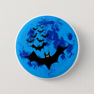 Vampire Bats Against The Blue Moon 6 Cm Round Badge