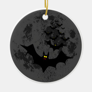 Vampire Bats Against The Dark Moon Christmas Ornament