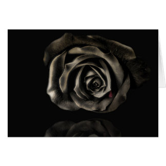 Vampire Black rose Greeting Card