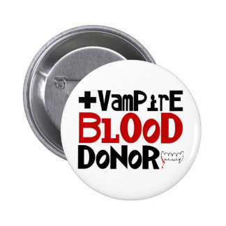 Vampire Blood Donor 6 Cm Round Badge