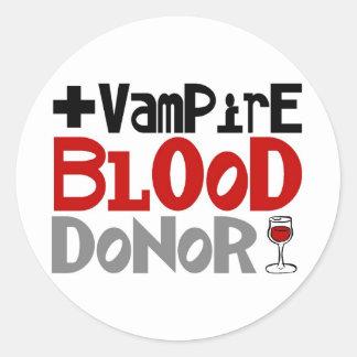 Vampire Blood Donor Round Sticker