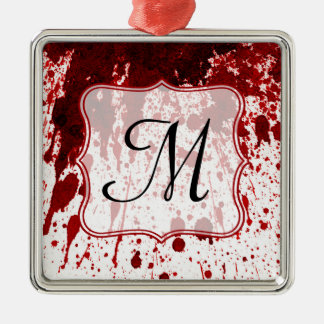 Vampire Blood Dripping Monogram Initial Ornament
