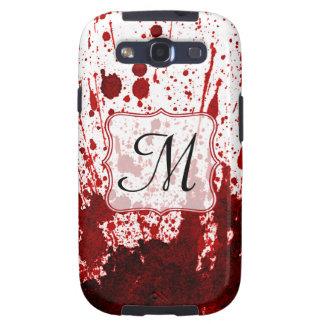 Vampire Blood Dripping Monogram Samsung Galaxy S3 Galaxy S3 Cover
