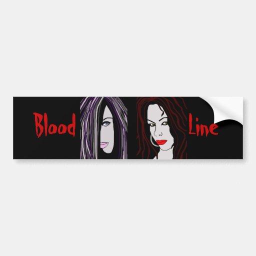 "Vampire ""Blood Line"" Bumper Stickers"