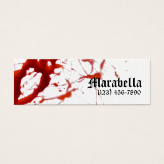 Vampire Bloody Skinny Business Card