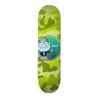 Vampire Boy; bright green camo, camouflage Skateboards