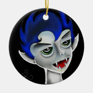vampire boy christmas ornament