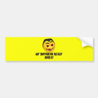 Vampire Boyfriend Sucks Bumper Sticker