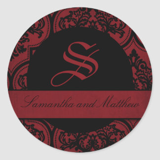 Vampire Bride Monogram Sticker