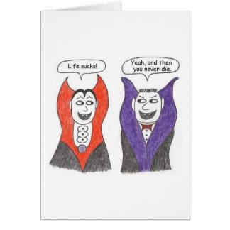 Vampire Cartoon Birthday Card
