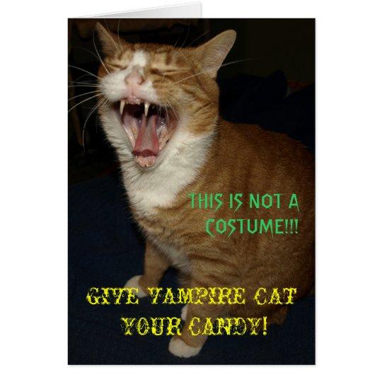 Vampire Cat Card