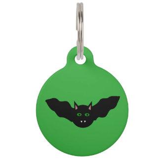 Vampire Cat Faced Bat Halloween  Custom Dog Tag Pet Tag