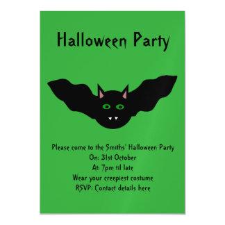 Vampire Cat Faced Bat Halloween Party Invites Magnetic Invitations