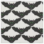 Vampire Cat Faced Bat Halloween patterned Fabric