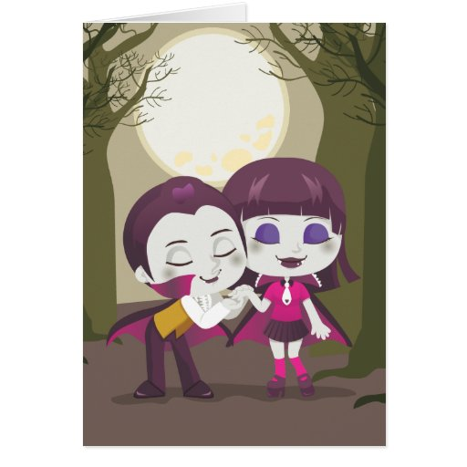 Vampire Couple Cards