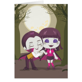 Vampire Couple Note Card