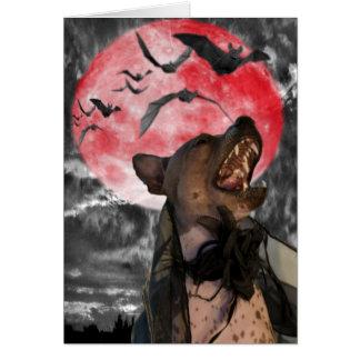 VAMPIRE DOG GREETING CARD
